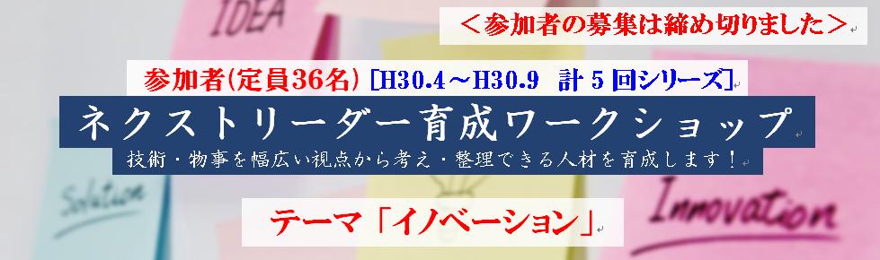 ネクストリーダー育成ワークショップ テーマ「イノベーション」